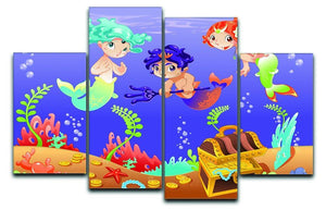 Baby Sirens and Baby Triton 4 Split Panel Canvas  - Canvas Art Rocks - 1