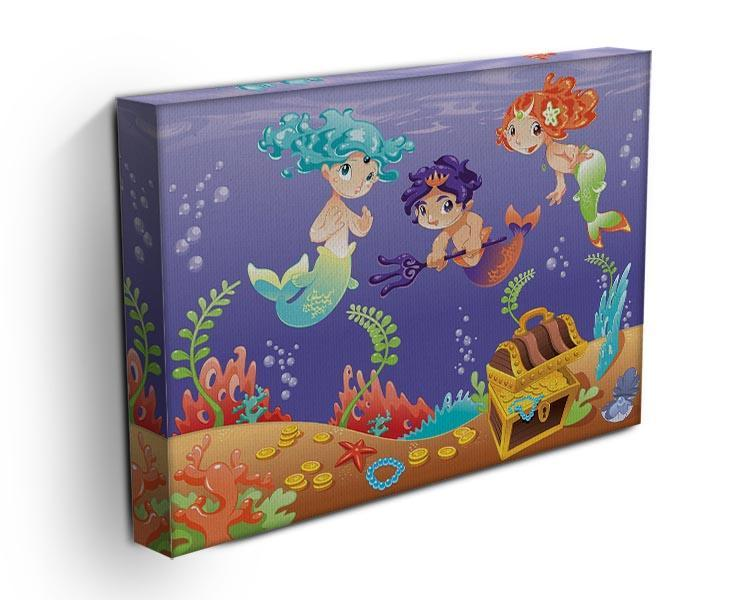 Baby Sirens and Baby Triton Canvas Print or Poster - Canvas Art Rocks - 3