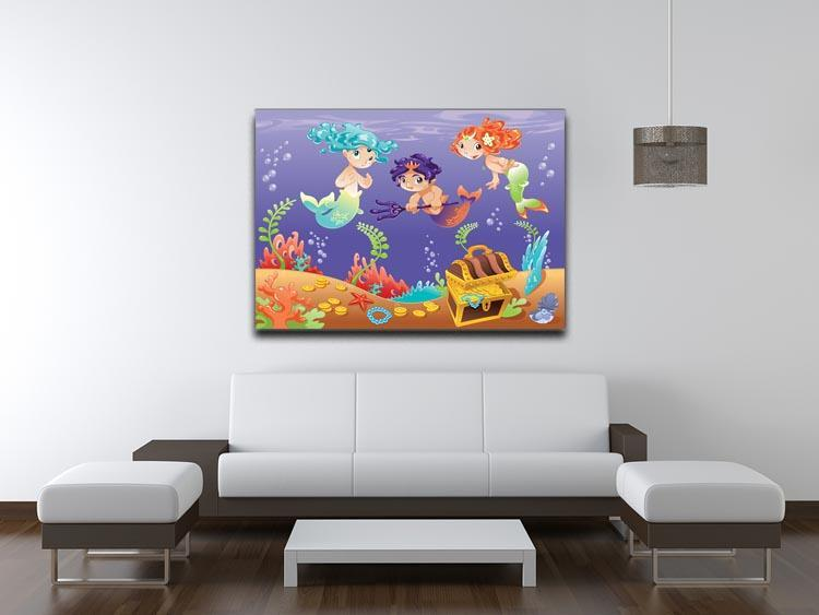 Baby Sirens and Baby Triton Canvas Print or Poster - Canvas Art Rocks - 4