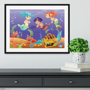 Baby Sirens and Baby Triton Framed Print - Canvas Art Rocks - 1