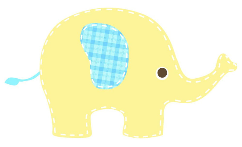 Baby Yellow Elephant Wall Decal - Canvas Art Rocks - 2
