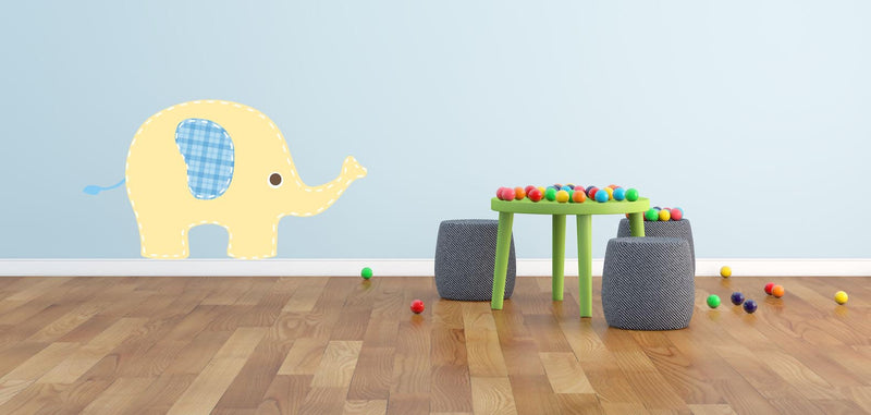 Baby Yellow Elephant Wall Decal - Canvas Art Rocks - 1