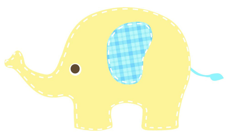 Baby Yellow Elephant Wall Decal - Canvas Art Rocks - 3