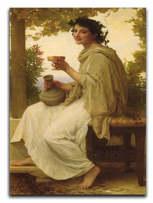 Bacchante By Bouguereau Canvas Print or Poster  - Canvas Art Rocks - 1