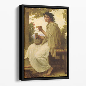 Bacchante By Bouguereau Floating Framed Canvas
