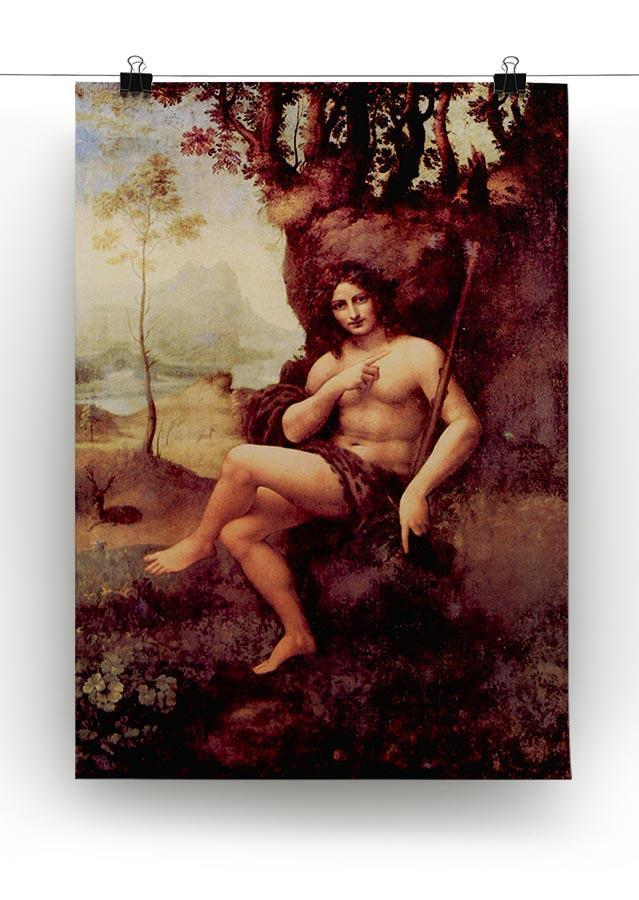 Bacchus by Da Vinci Canvas Print & Poster - Canvas Art Rocks - 2
