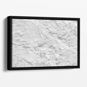 Background of white stone Floating Framed Canvas