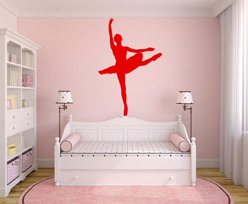 Ballet Dancer - Version 5 Wall Decal - Canvas Art Rocks - 1