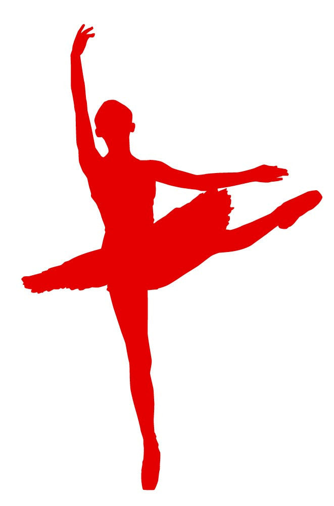 Ballet Dancer - Version 5 Wall Decal - Canvas Art Rocks - 2