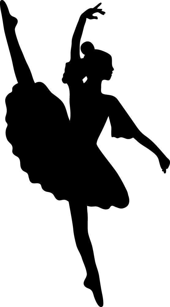 Ballet Dancer - Version 1 Wall Decal - Canvas Art Rocks - 2