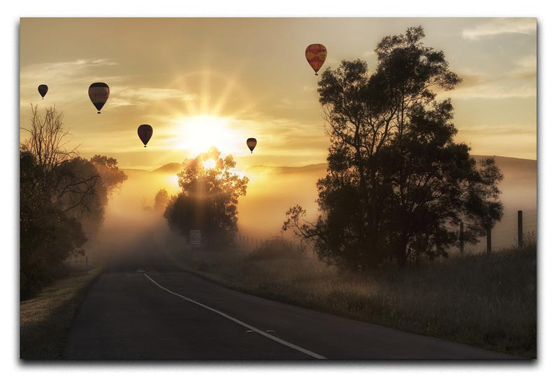 Hot Air Balloon Sunrise Print - Canvas Art Rocks - 1