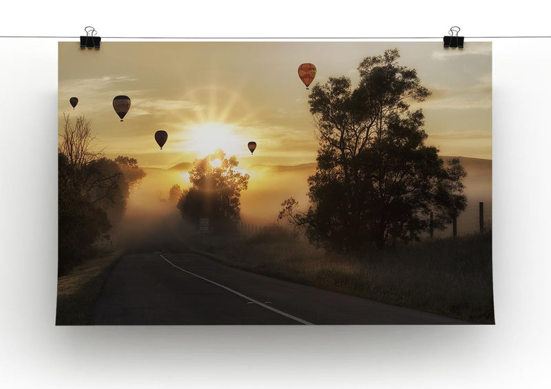 Hot Air Balloon Sunrise Print - Canvas Art Rocks - 2
