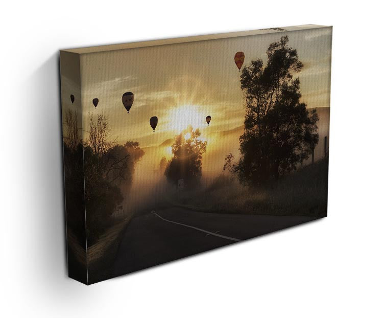 Hot Air Balloon Sunrise Print - Canvas Art Rocks - 3