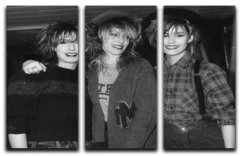 Bananarama 3 Split Panel Canvas Print - Canvas Art Rocks - 1