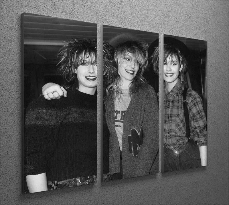 Bananarama 3 Split Panel Canvas Print - Canvas Art Rocks - 2