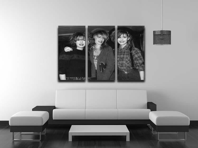 Bananarama 3 Split Panel Canvas Print - Canvas Art Rocks - 3