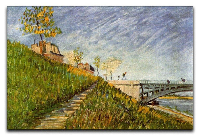 Banks of the Seine with Pont de Clichy by Van Gogh Canvas Print or Poster