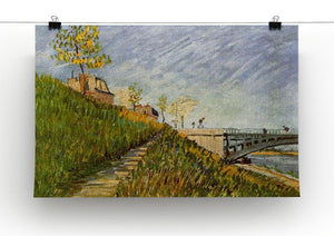 Banks of the Seine with Pont de Clichy by Van Gogh Canvas Print & Poster - Canvas Art Rocks - 2