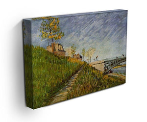 Banks of the Seine with Pont de Clichy by Van Gogh Canvas Print & Poster - Canvas Art Rocks - 3