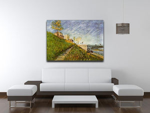 Banks of the Seine with Pont de Clichy by Van Gogh Canvas Print & Poster - Canvas Art Rocks - 4