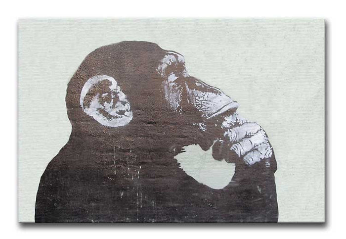 Banksy The Thinker Monkey Canvas Print or Poster