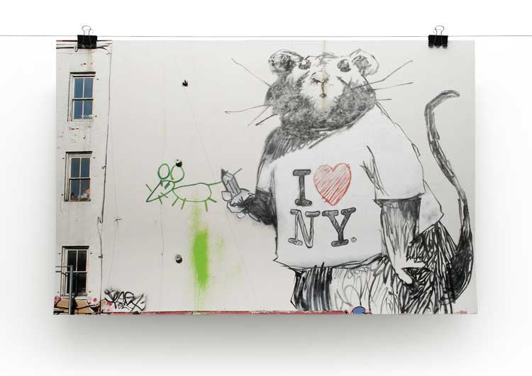 Banksy Rat I Love New York Print - Canvas Art Rocks - 2
