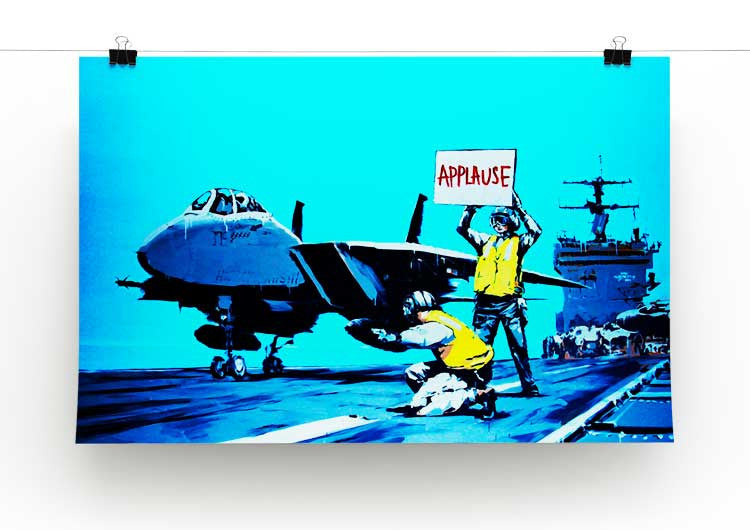 Banksy Aircraft Carrier Applause Print - Canvas Art Rocks - 2