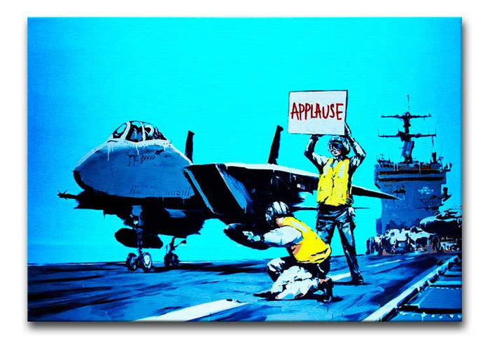 Banksy Aircraft Carrier Applause Canvas Print or Poster
