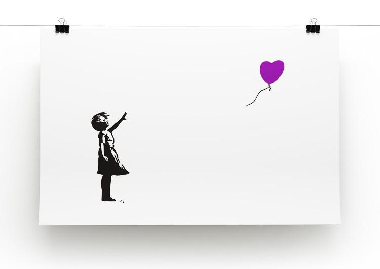 Banksy Balloon Heart Girl Print - Canvas Art Rocks - 5