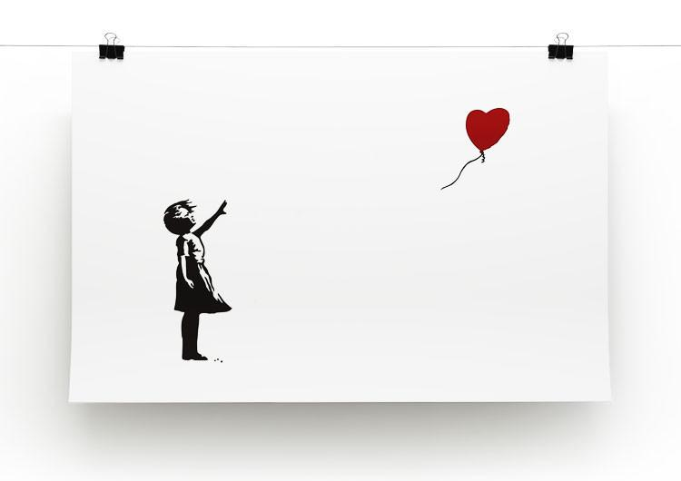 Banksy Balloon Heart Girl Print - Canvas Art Rocks - 3
