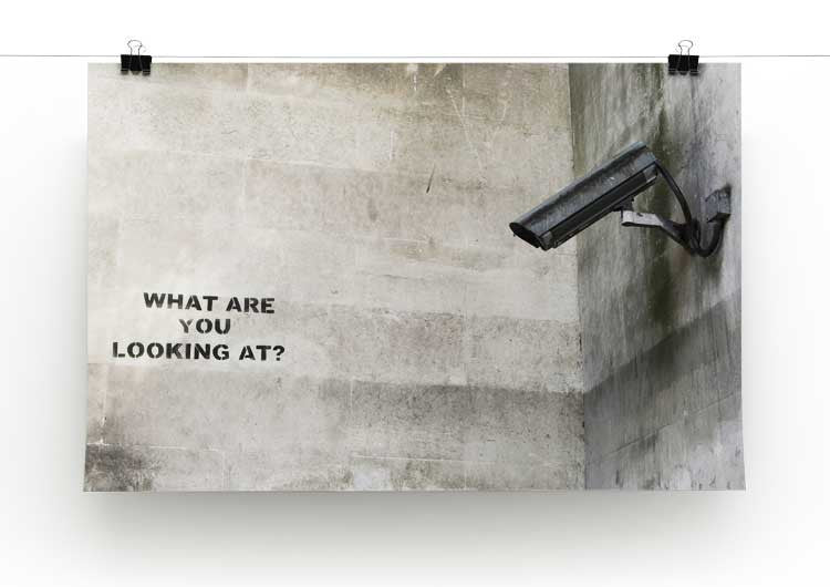 Banksy CCTV What Are You Looking at Print - Canvas Art Rocks - 2