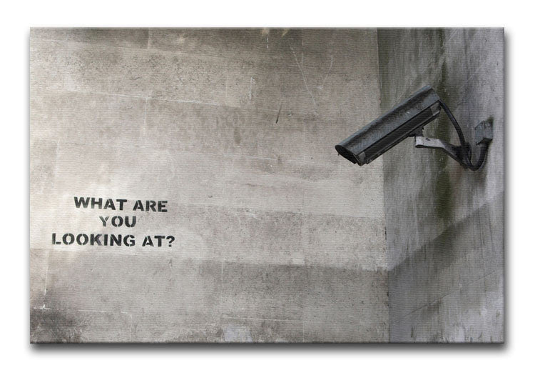 Banksy CCTV What Are You Looking at Print - Canvas Art Rocks - 1