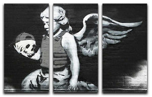 Banksy Cherub With Bullet-Proof Vest Split-Panel Canvas Print - Canvas Art Rocks