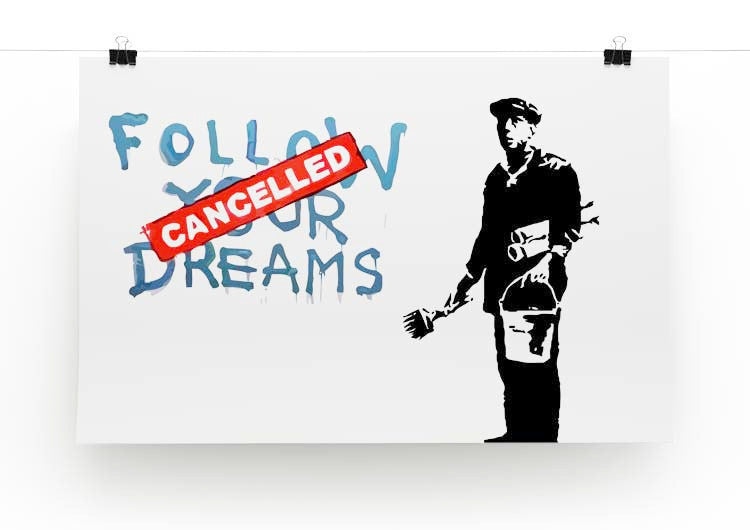 Banksy Follow Your Dreams - Cancelled Print - Canvas Art Rocks - 2
