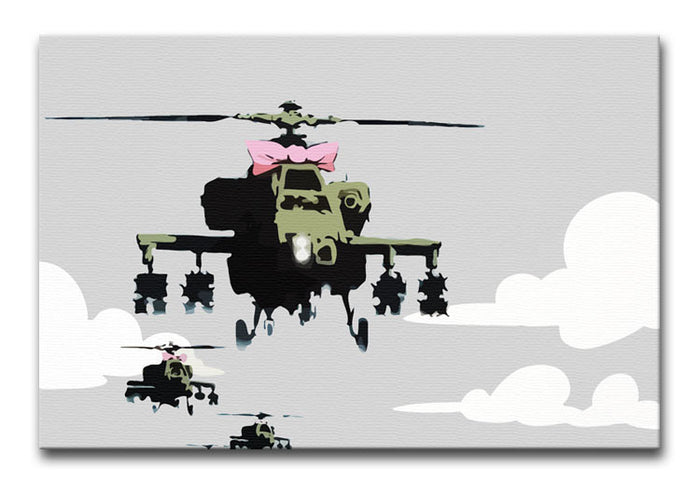 Banksy Friendly Helicopters Canvas Print or Poster