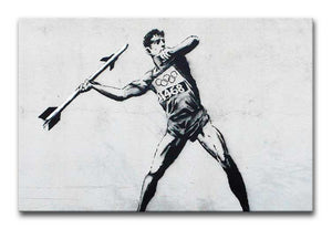 Banksy Javelin Thrower Print - Canvas Art Rocks - 1