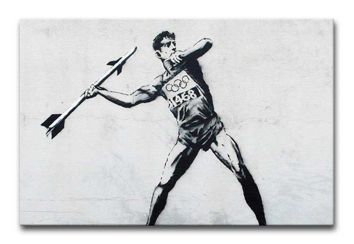 Banksy Javelin Thrower Canvas Print or Poster