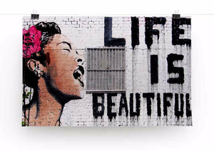 Banksy Life is Beautiful Print - Version 2 - Canvas Art Rocks - 2