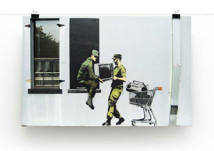 Banksy Looting Soldiers Print - Canvas Art Rocks - 2