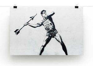 Banksy Javelin Thrower Print - Canvas Art Rocks - 2