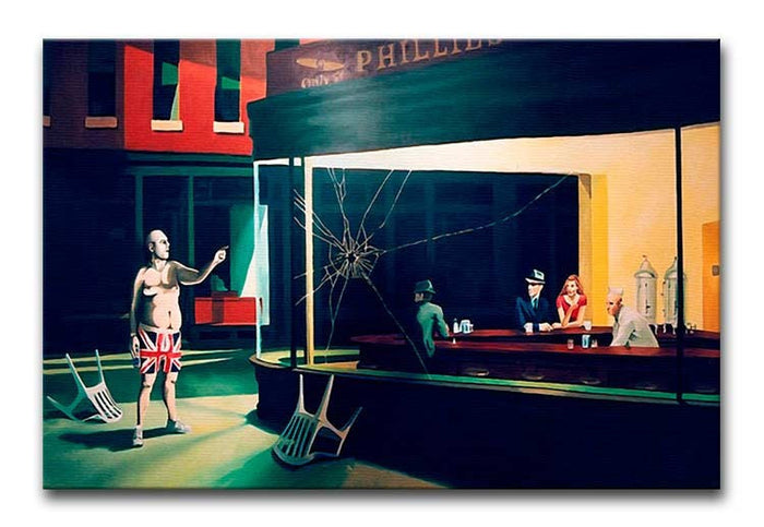 Banksy Nighthawks Canvas Print or Poster
