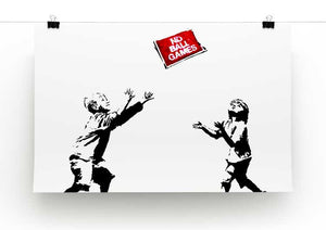 Banksy No Ball Games Print - Canvas Art Rocks - 2