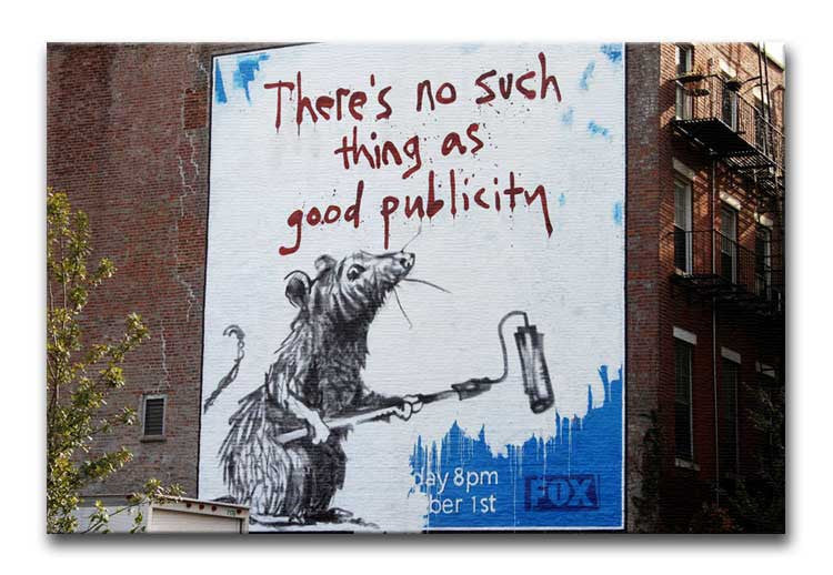 Banksy No Such Thing As Good Publicity Print - Canvas Art Rocks - 1