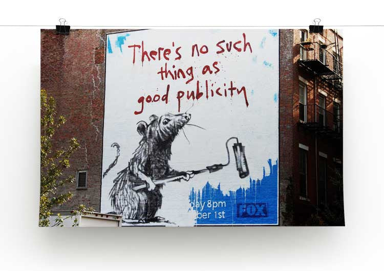 Banksy No Such Thing As Good Publicity Print - Canvas Art Rocks - 2