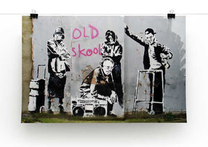Banksy Old Skool Print - Canvas Art Rocks - 2