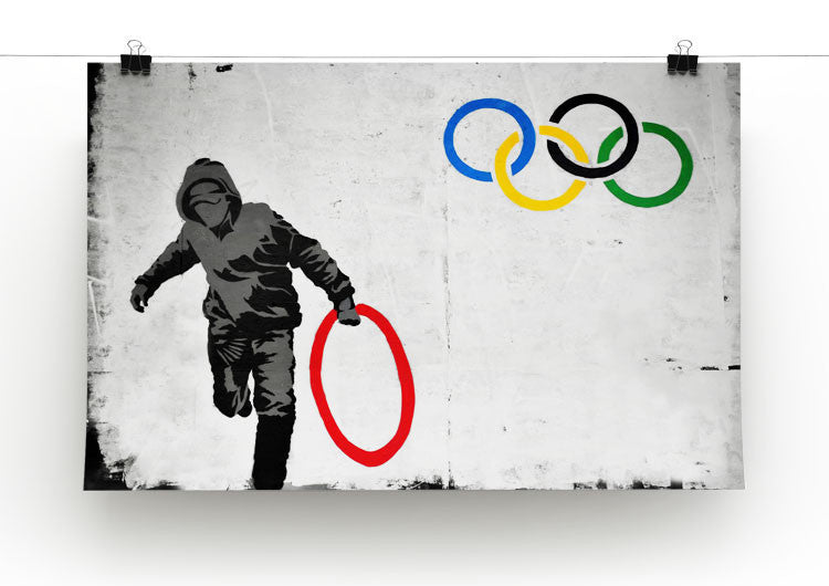 Banksy Olympic Rings Looter Print - Canvas Art Rocks - 1