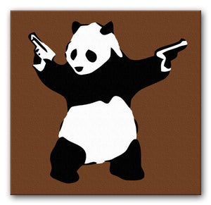 Banksy Panda with Guns Print - Canvas Art Rocks - 5
