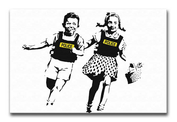 Banksy Police Kids Canvas Print or Poster