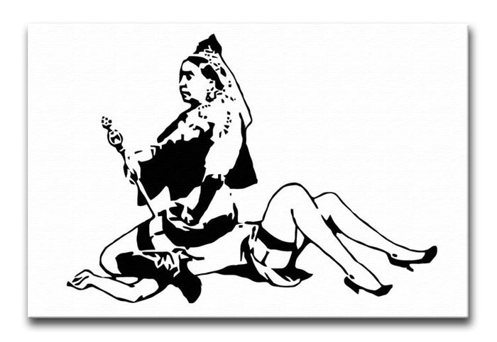 Banksy Queen Victoria Canvas Print or Poster