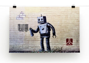 Banksy Robot Print - Canvas Art Rocks - 2